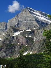 Mount Gould, Many Glacier Boat Tour, Glacier National Park