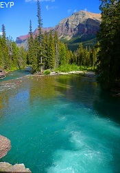 St. Mary River, Saint Mary Falls, Glacier National Park