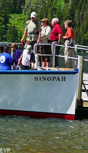 Wooden Boat Sinopah, Two Medicine Area, Glacier National Park