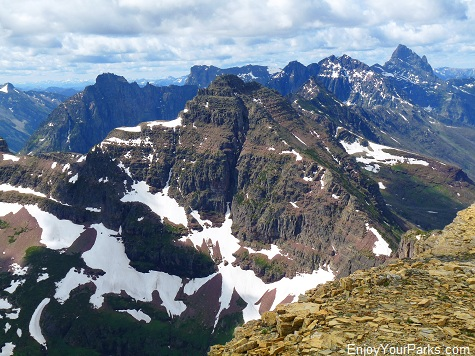 Mount Helen Summit above Dawson  Pass, Glacier National Park