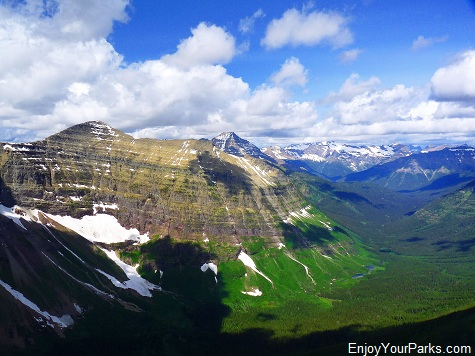 View from Dawson Pass, Two Medicine Area, Glacier National Park