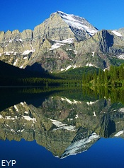 Mount Gould and Lake Josephine, Many Glacier Boat Tour, Glacier National Park