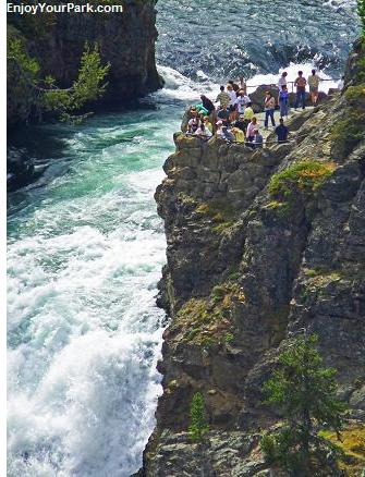 Brink of the Upper Falls, Grand Canyon of the Yellowstone, Yellowstone National Park