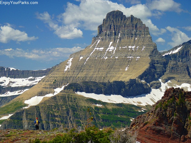 View of Mount Wilbur from Altyn Peak, Glacier National Park