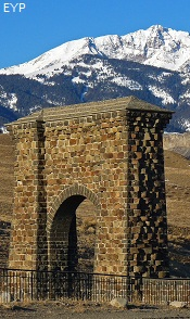 Roosevelt Arch, Gardiner Montana, Yellowstone National Park