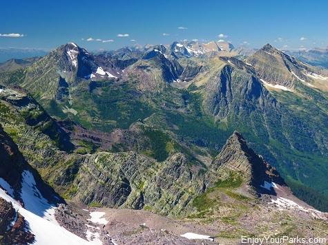 View from Gunsight Mountain, Sperry Glacier Trail, Glacier National Park