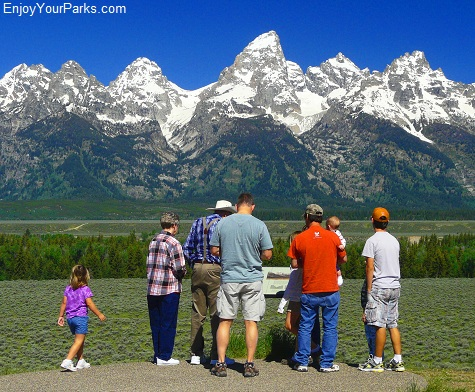 Glacier View Turnout, Highway 89 Overlooks & Turnouts, Grand Teton National Park